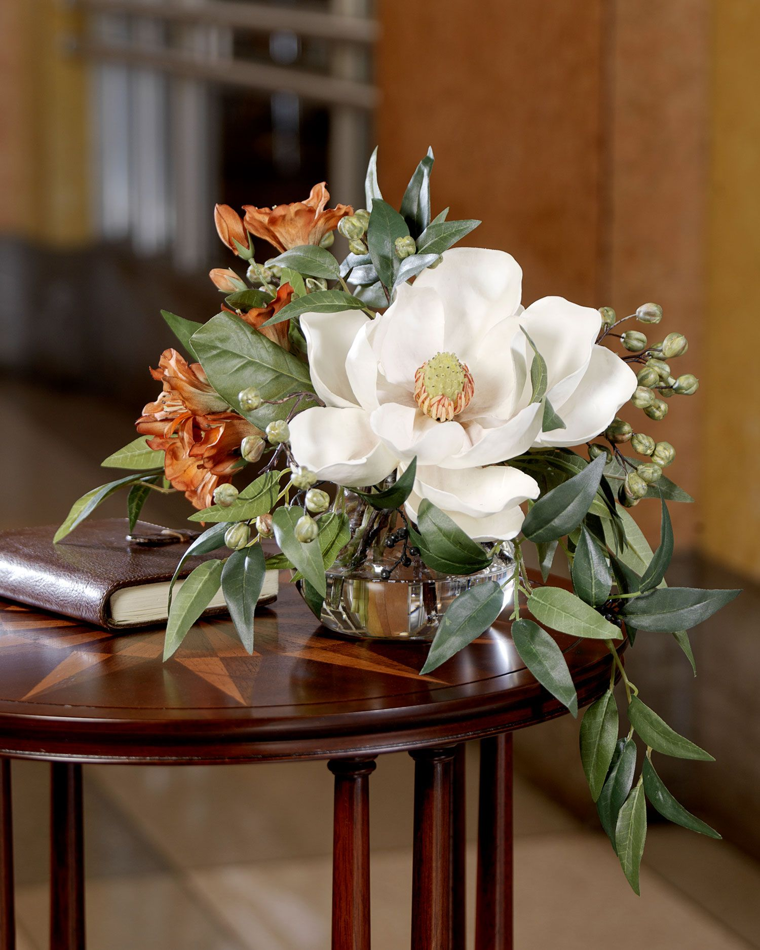 White flower arrangement pictures Cached
