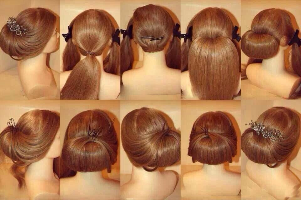 Peinado facil y elegante hair and make up nail pinterest - Peinados faciles y rapidos paso a paso ...