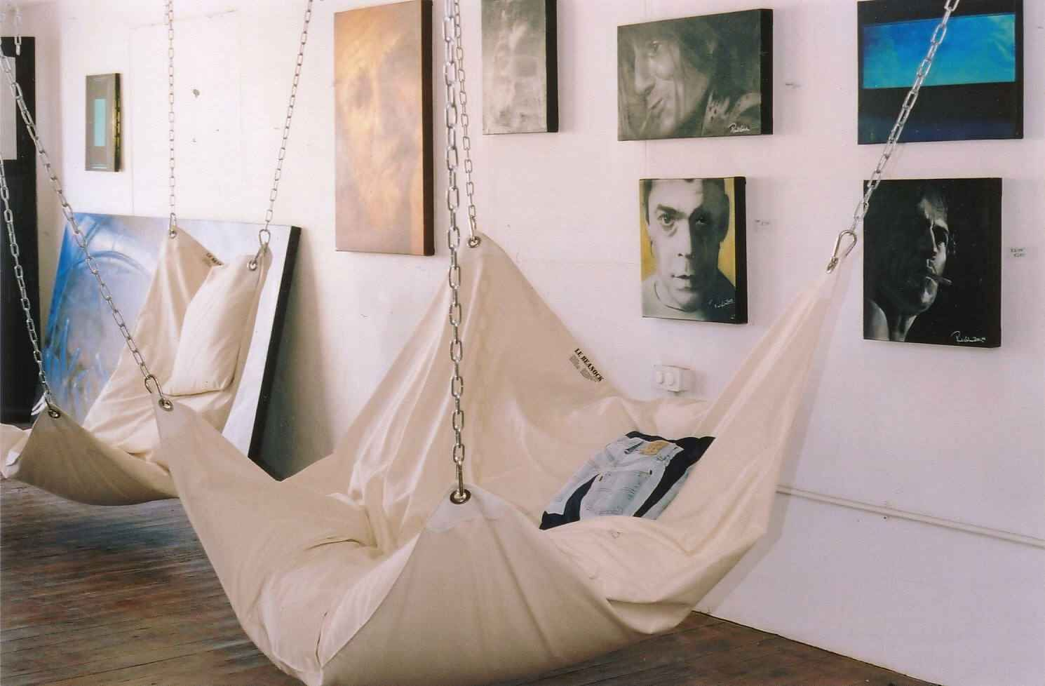 Hammock in living room home decor pinterest for Hanging chair living room