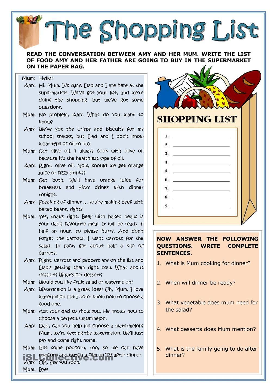 Adult esl worksheets