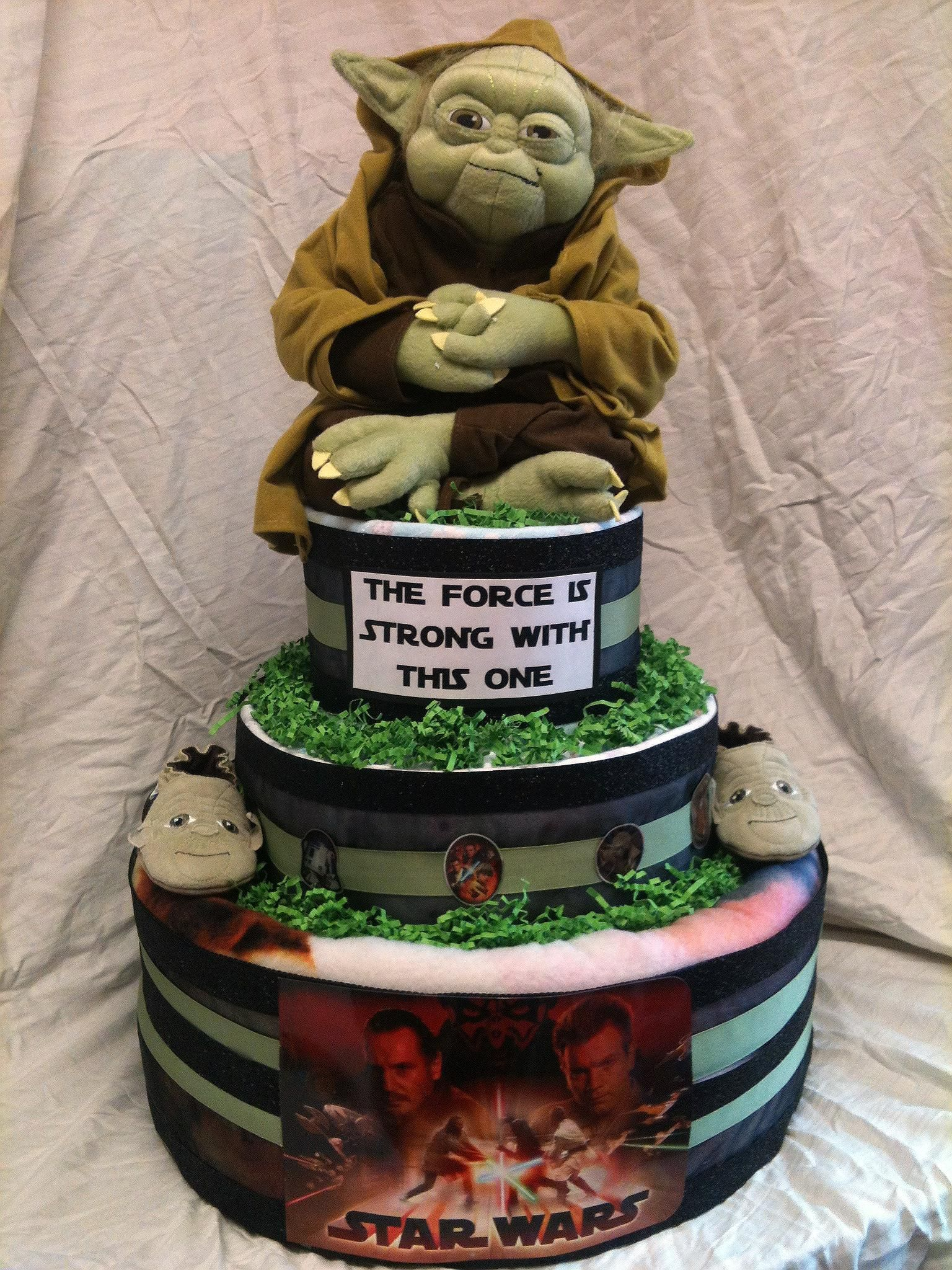 star wars themed diaper cake baby shower ideas pinterest