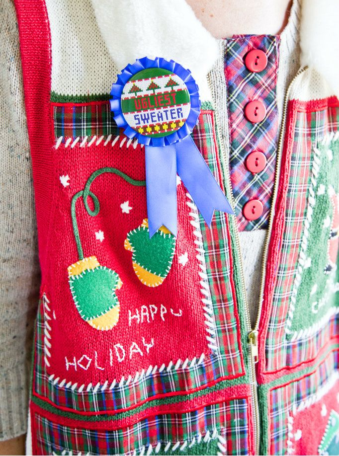crafty texas girls  party planning  tacky christmas sweater