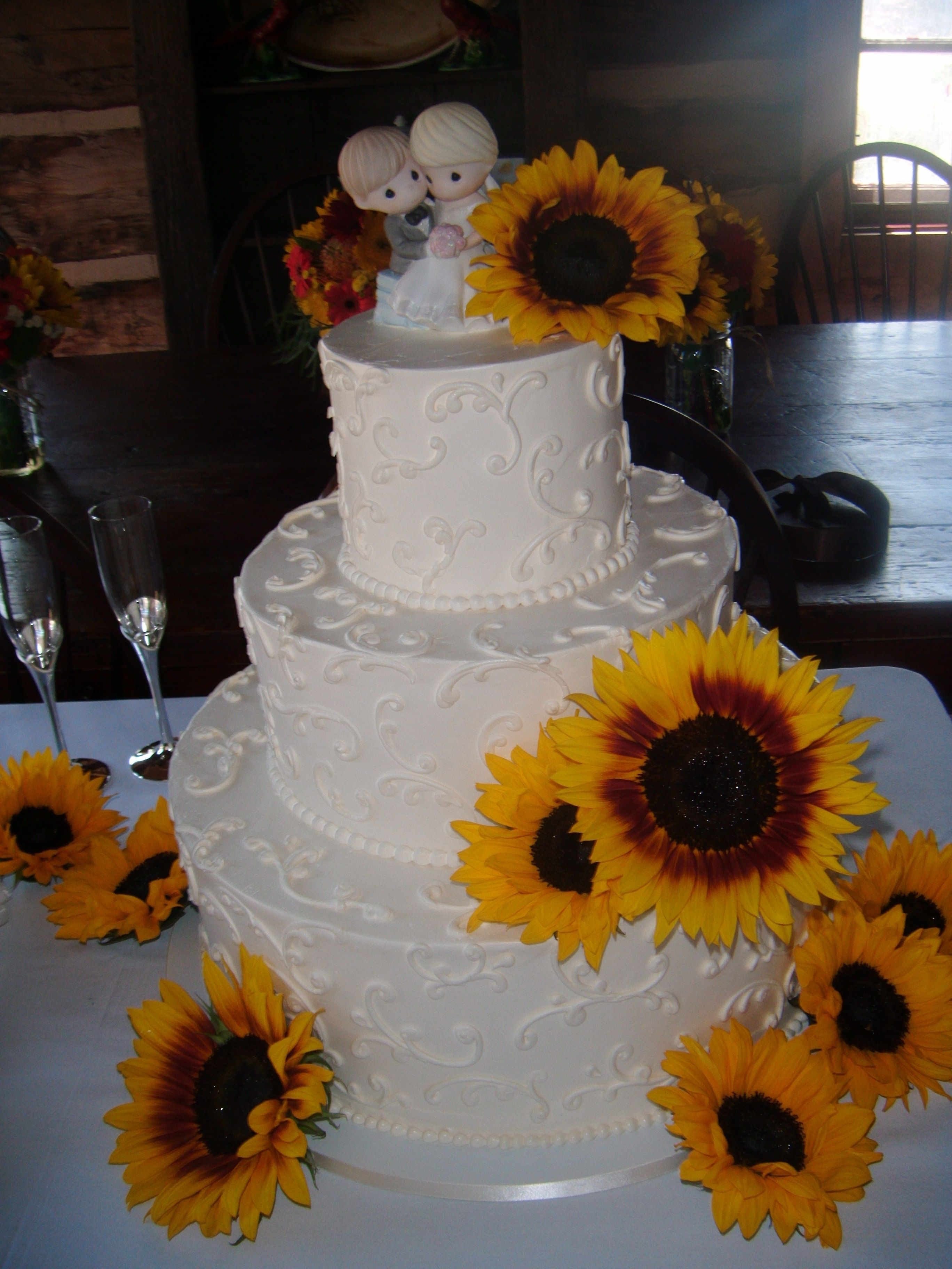 Sunflower Wedding Cake Someday Special
