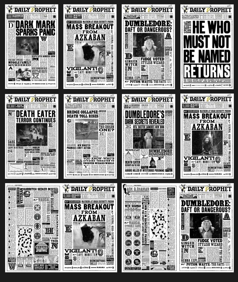 The Daily Prophet Printable The Daily Prophet! | G...