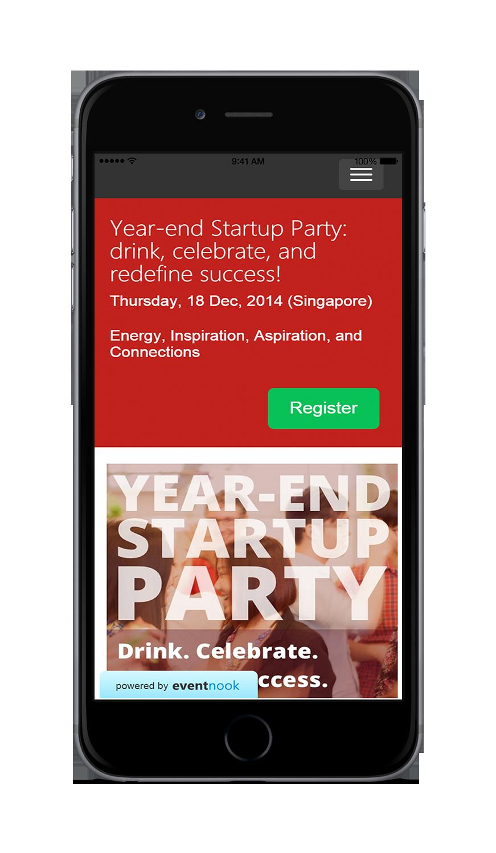 EventNook Mobile friendly event ticketing site