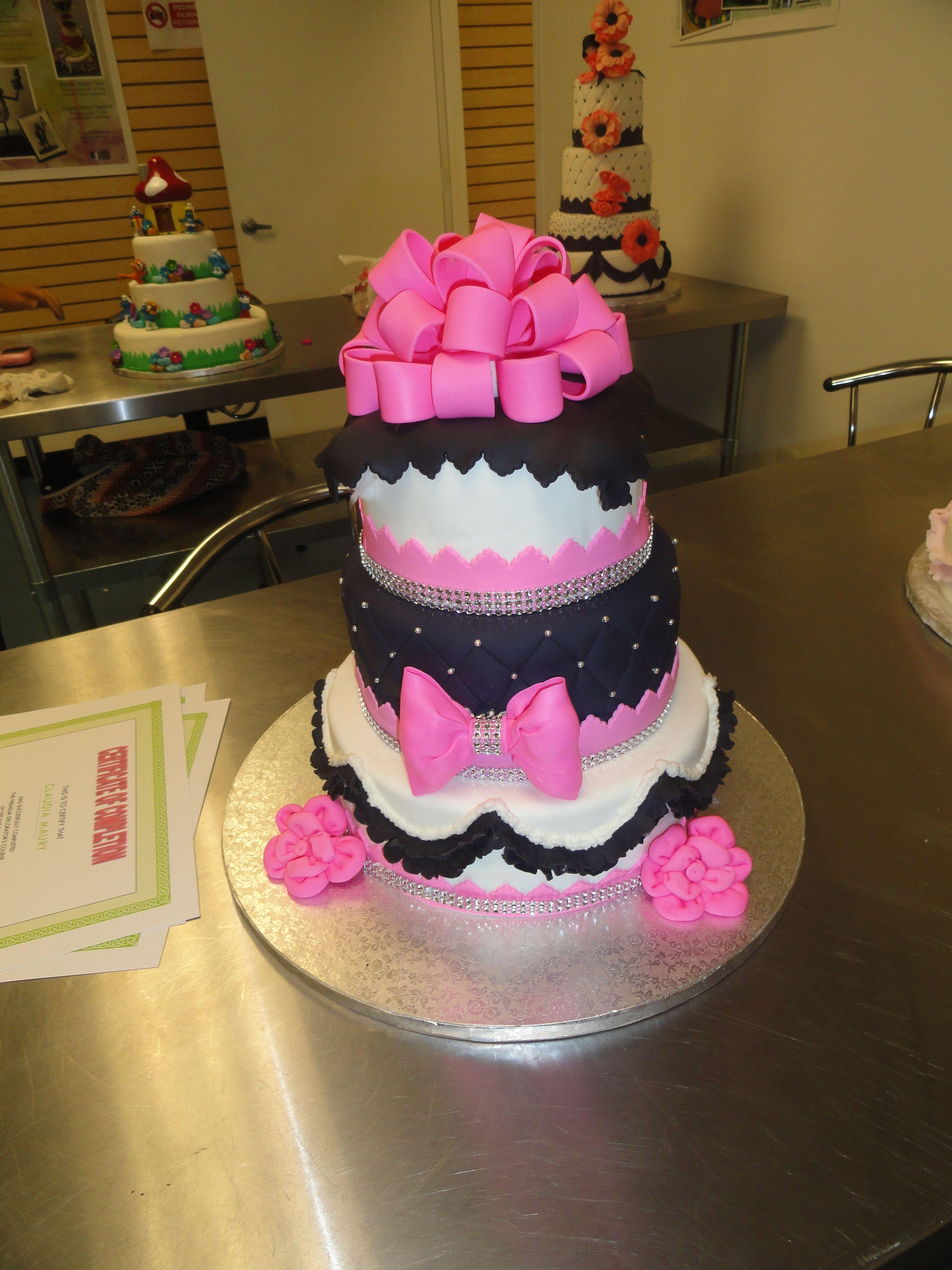 Pin Pink Bling Wedding Cakes Best Cake Cake on Pinterest