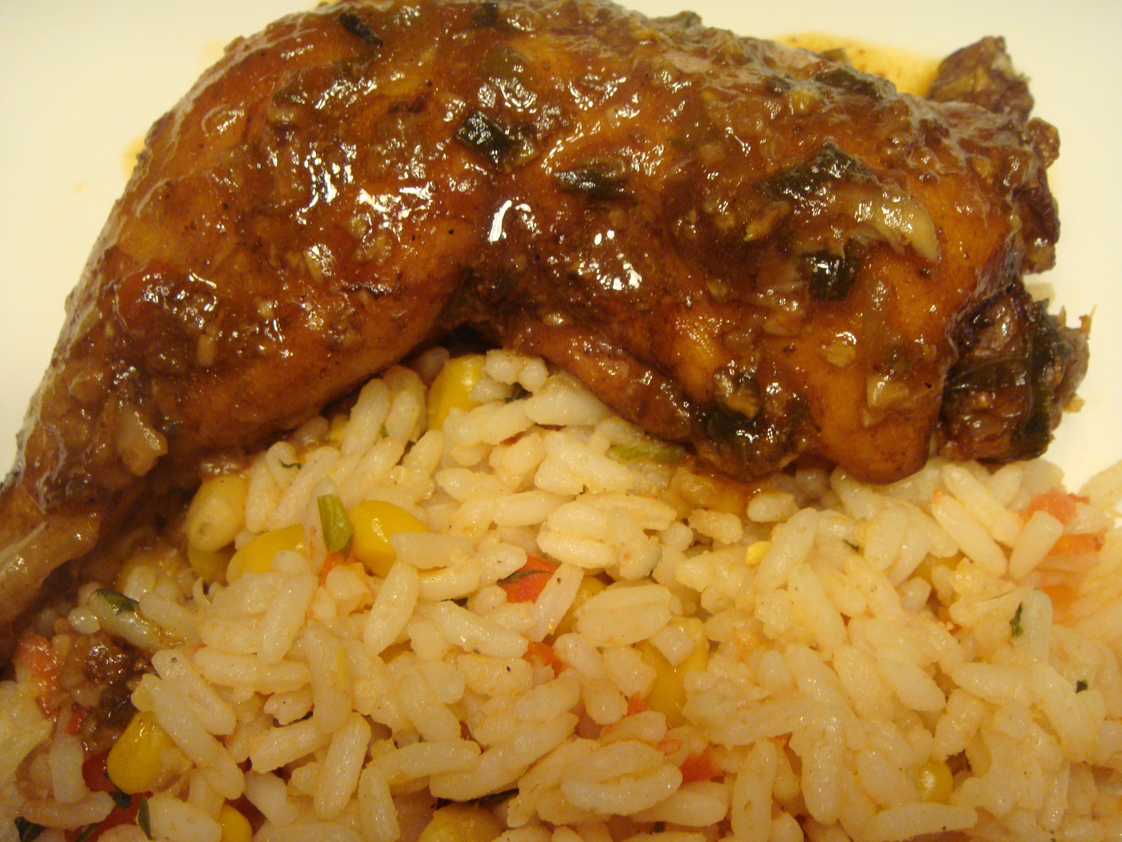 Spanish Rice and Baked Chicken | Caribbean Flavours | Pinterest