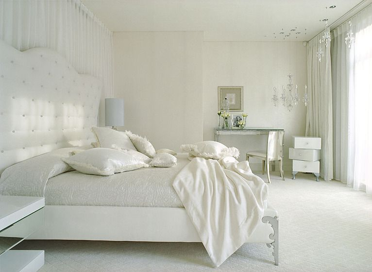 White and grey themed bedroom home decor pinterest - Grey themed rooms ...