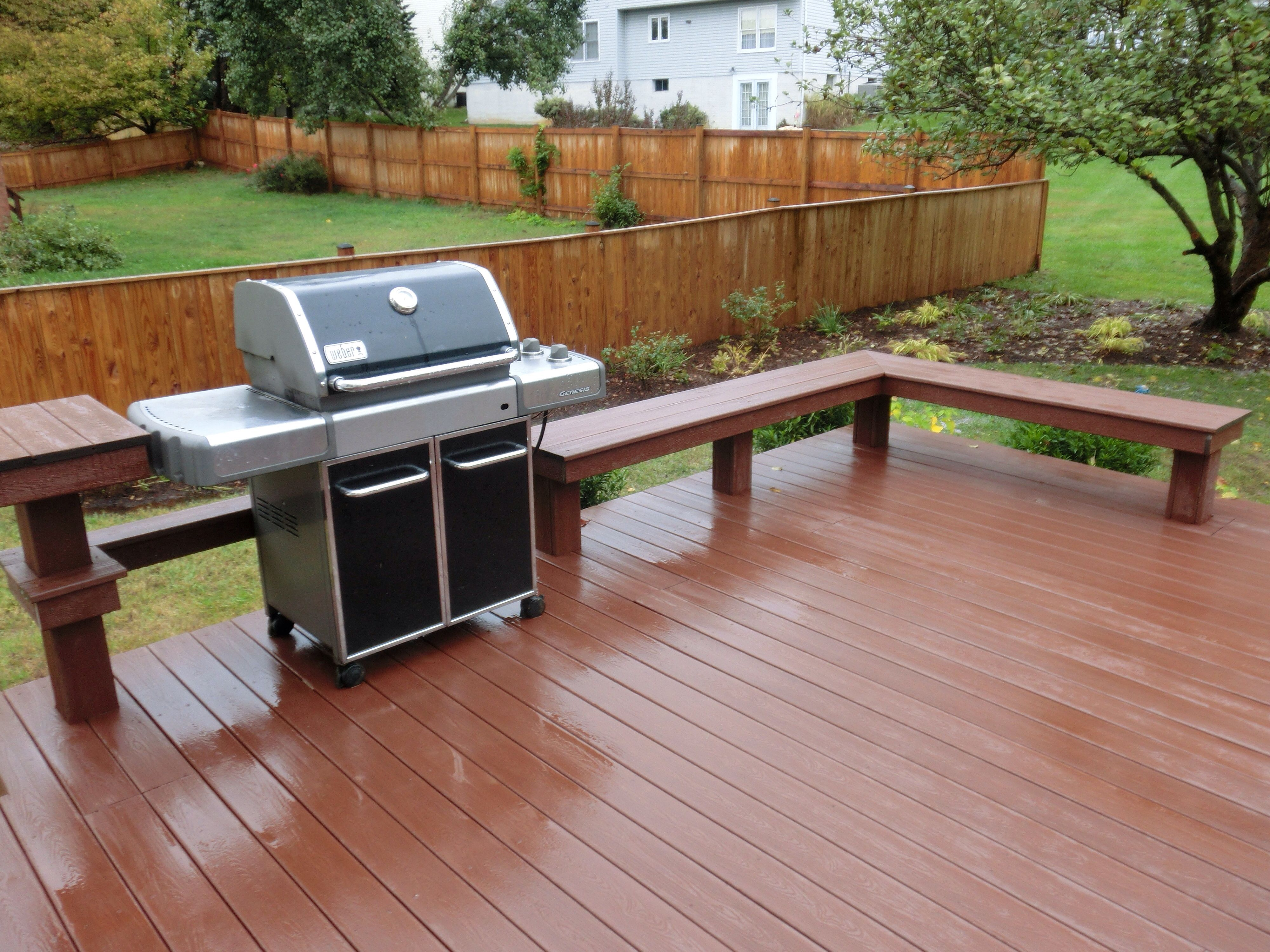Composite Deck With Built In Bench Decks Pinterest