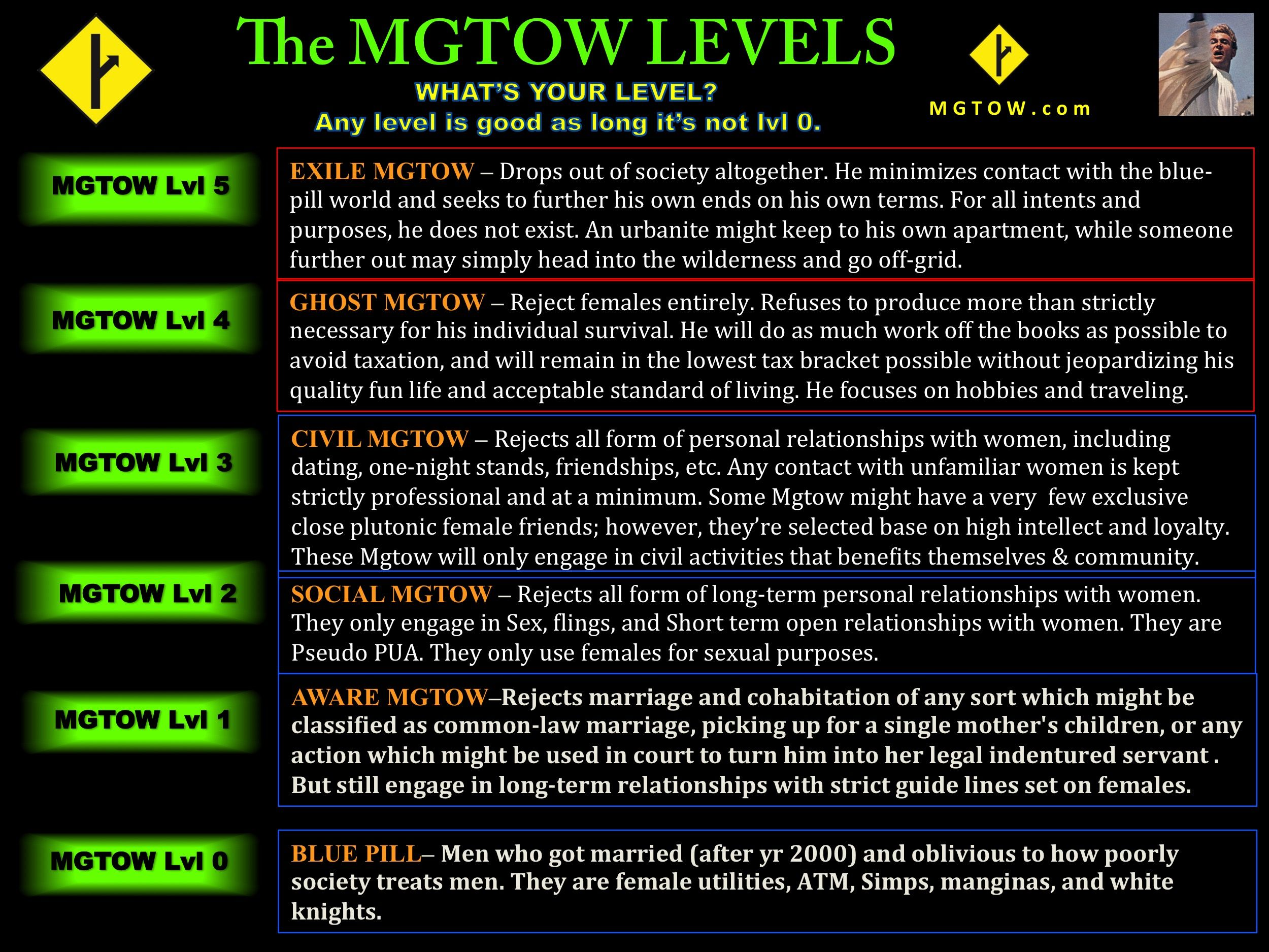 The 5 (6) Levels of MGTOW