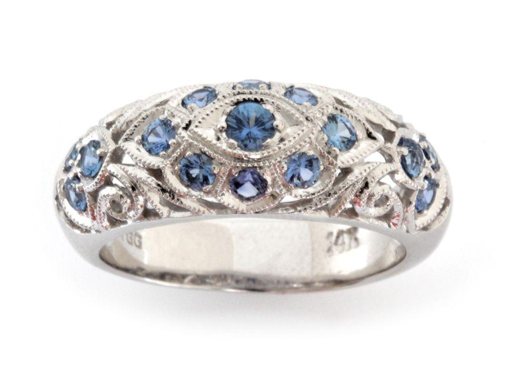 14k Yogo Sapphire Ring The Gem Gallery Gemstones