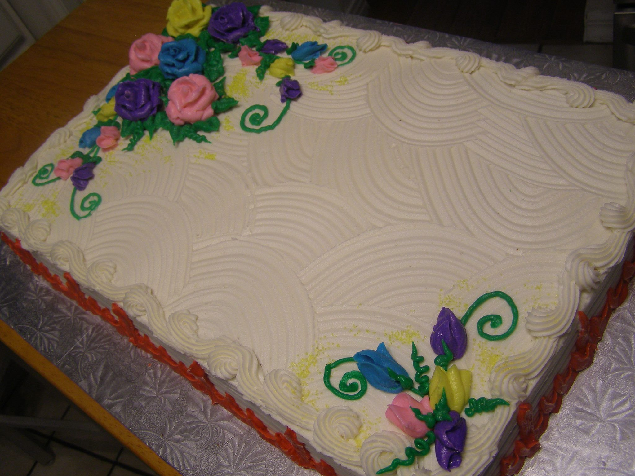 full sheet cake. Carol s Cake Designs Cake decorations ...