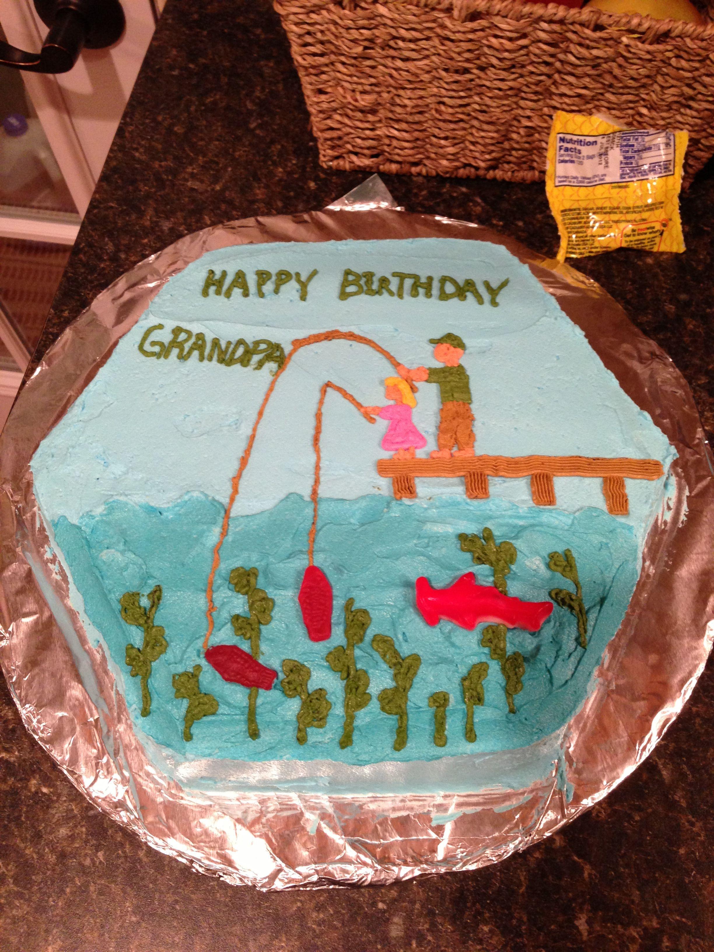 Grandpas 62nd Birthday Cake...:)  Kimmie Kakes!  Pinterest
