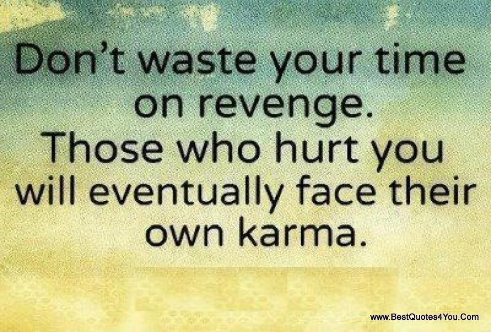 Don 39 t waste your time on revenge quotes pinterest for All about karma