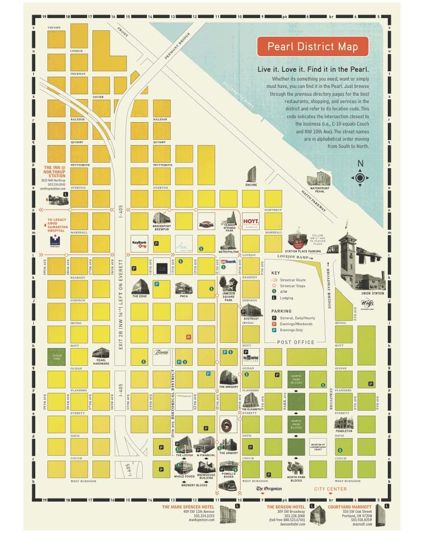 Pearl District Map  Portland OR  Pinterest