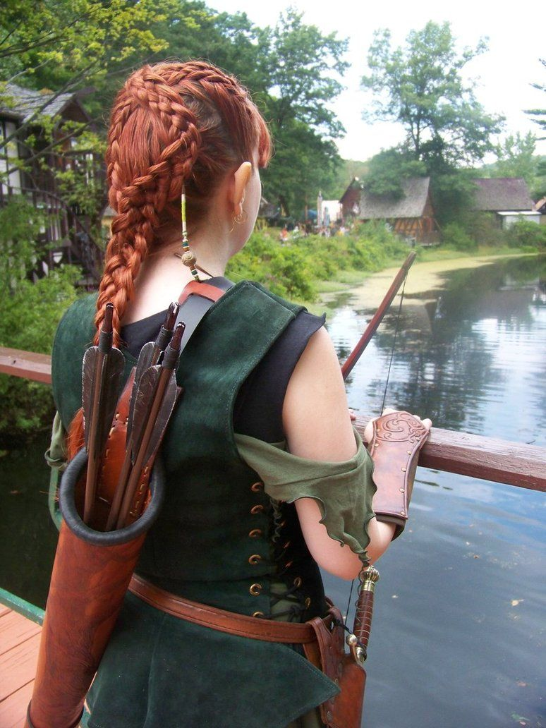 Redhead elven archer adult images