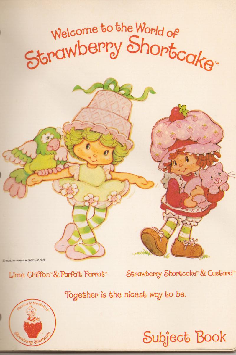SSC Lime Chiffon Notebook | Strawberry Shortcake | Pinterest