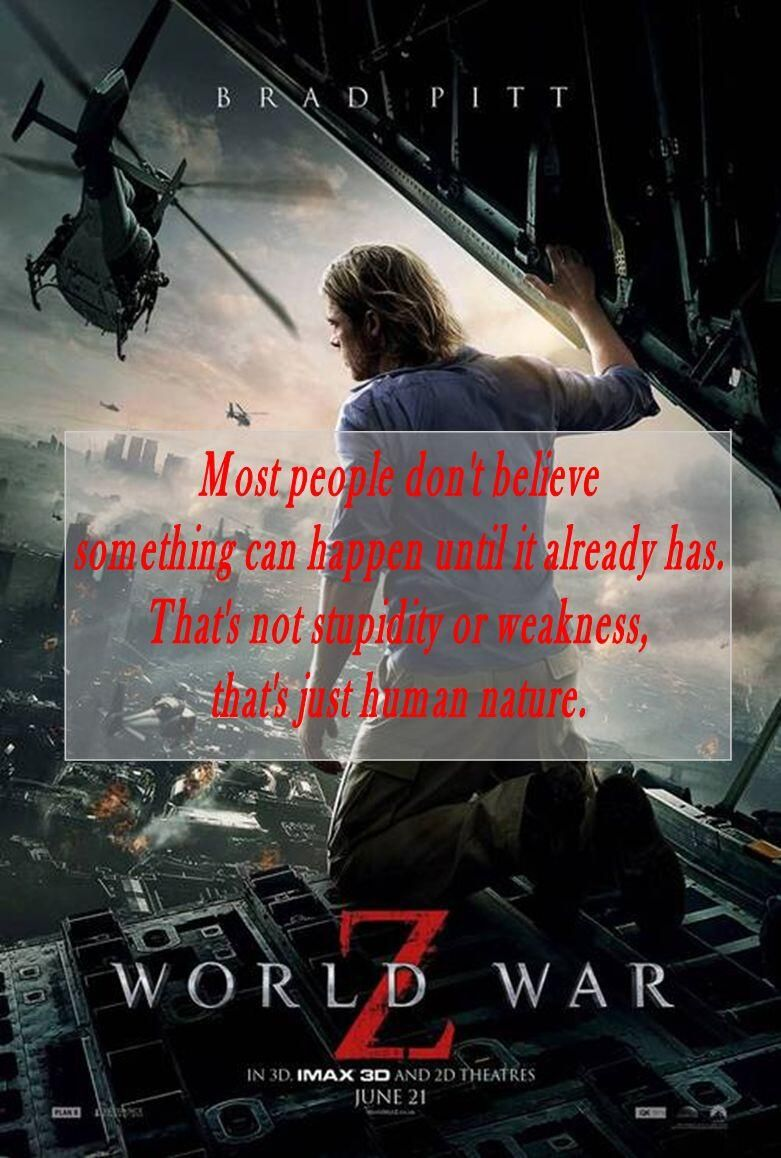 World War Z Movie Quotes Quotesgram