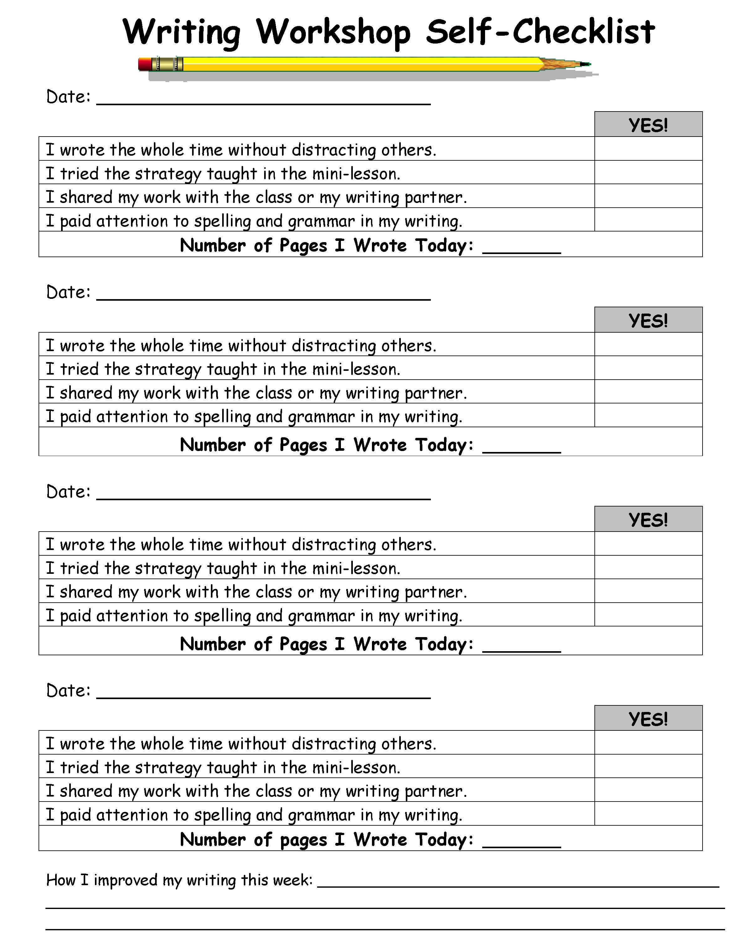 peer editing checklist essay writing