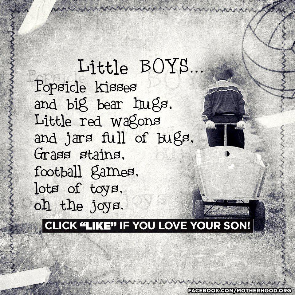 Little boys.... | Favorite Sayings | Pinterest Quotes About Little Boys