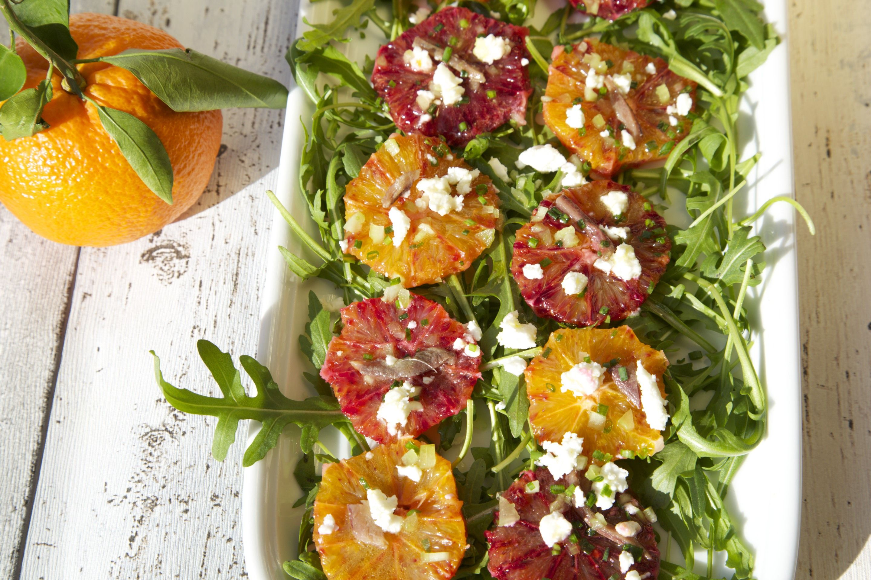Blood orange salad with feta | Food | Pinterest