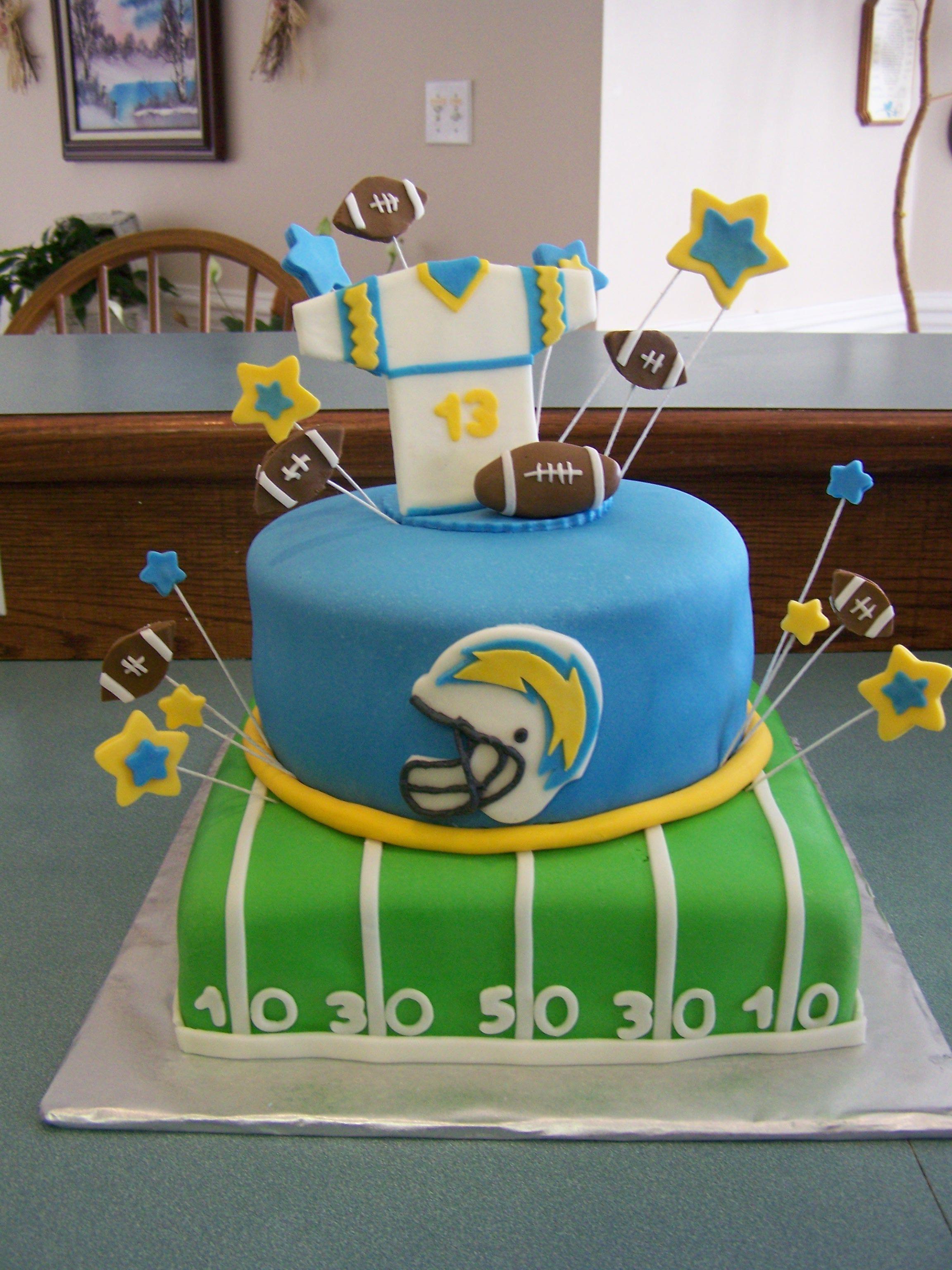 football theme cakes