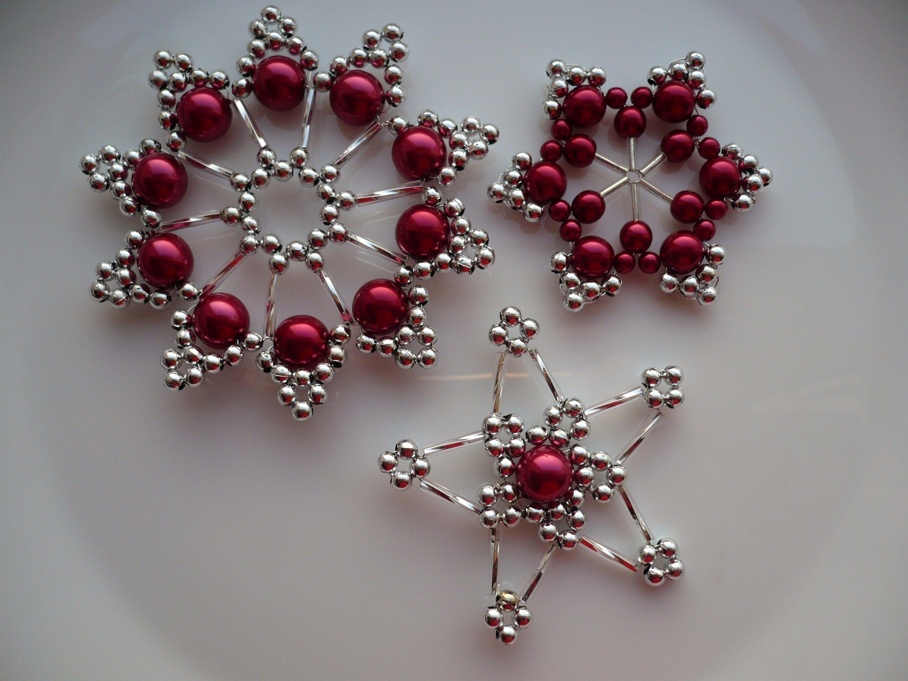 Handmade christmas ornaments with beads - How To Make Beaded Christmas Ornaments Christmas Ornaments Beaded Ornaments Pinterest