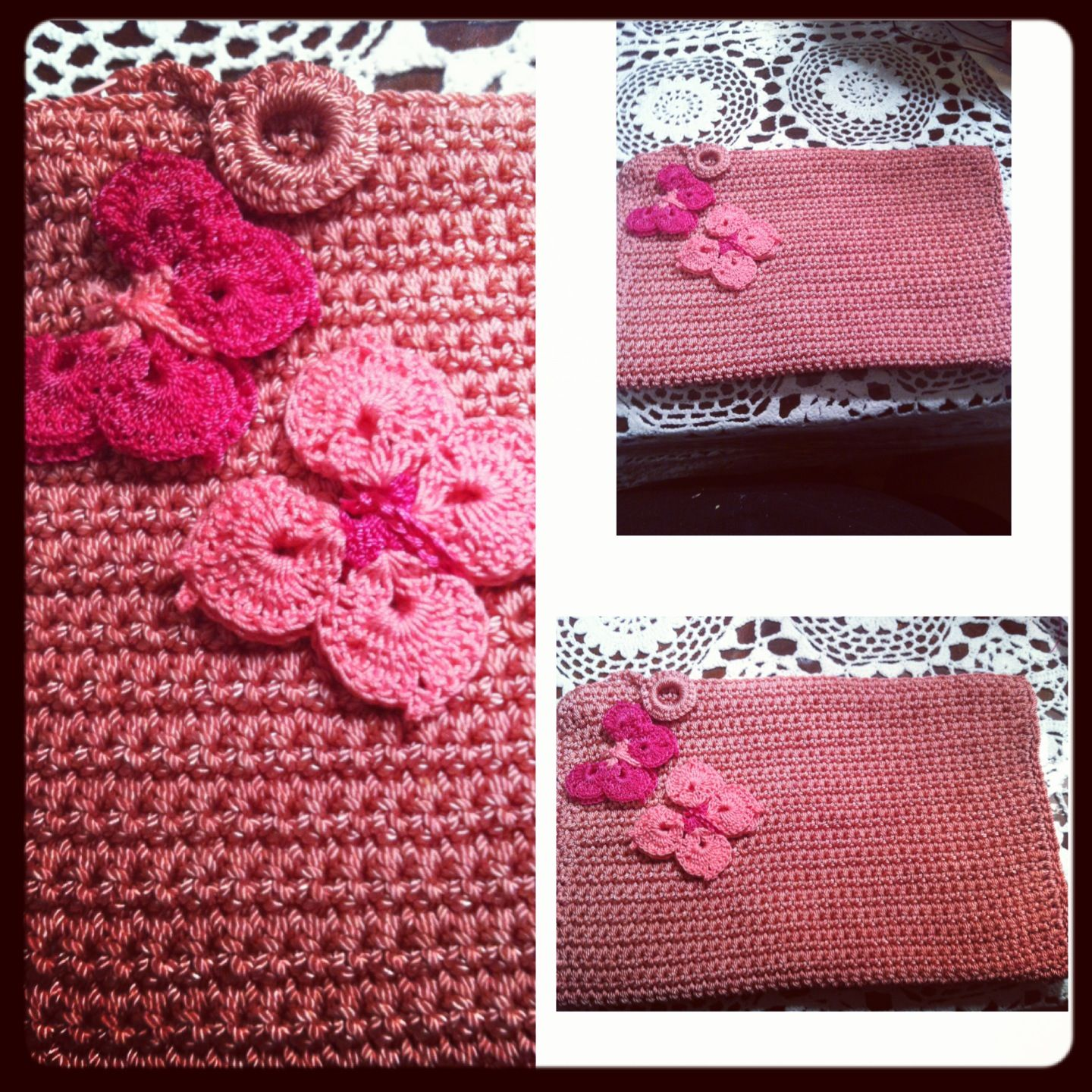 Crochet Cosmetic Bag Pattern : Crochet makeup bag Crochet e tric? Pinterest