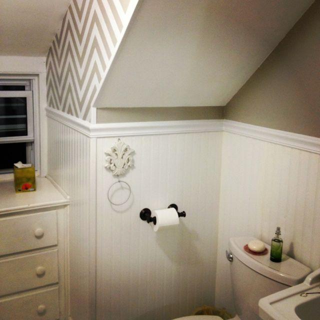 Bathroom renovation with slanted ceiling bathrooms for Slanted ceiling bathroom
