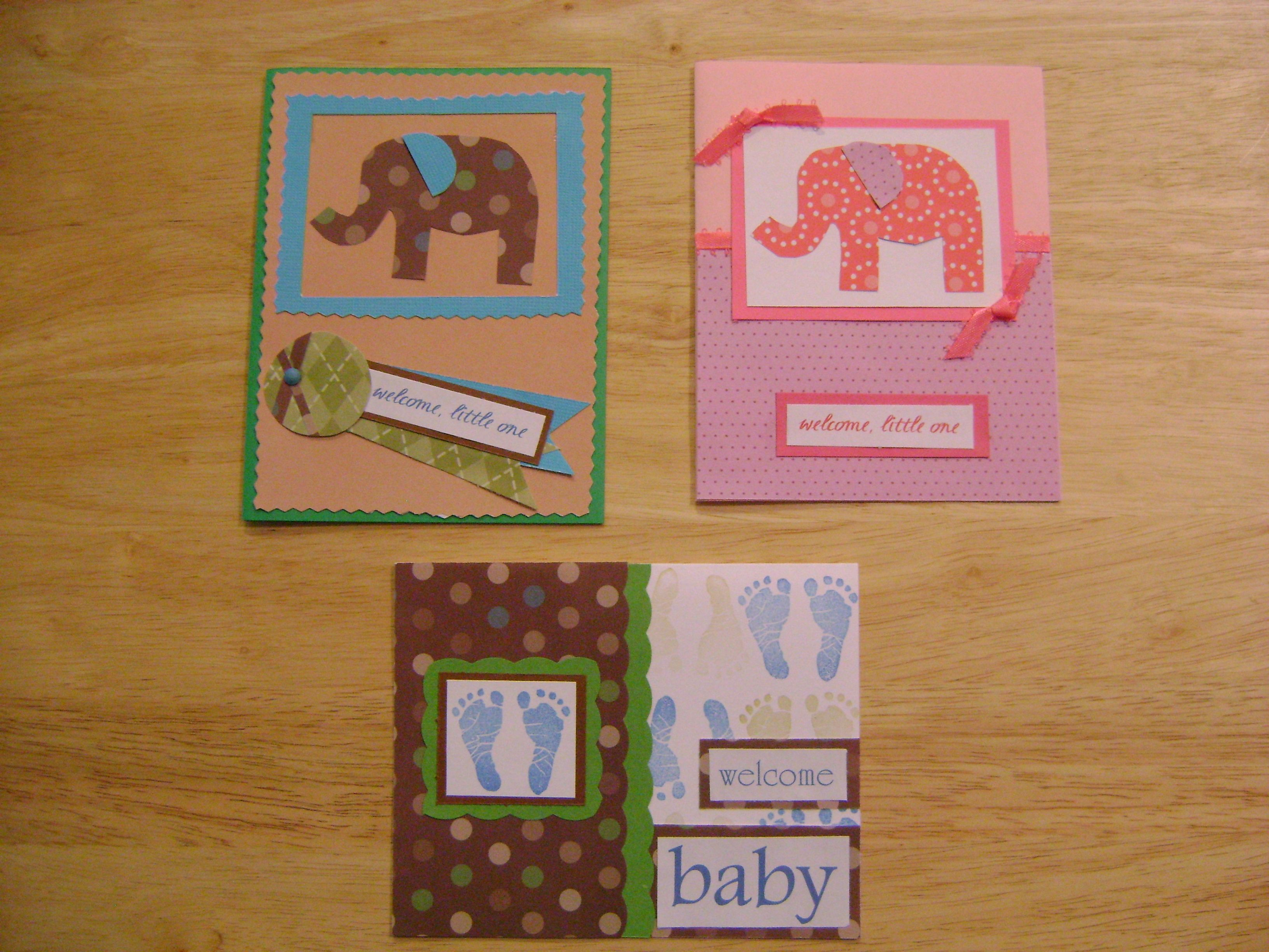 homemade baby cards | Paper Crafts and Stationery | Pinterest