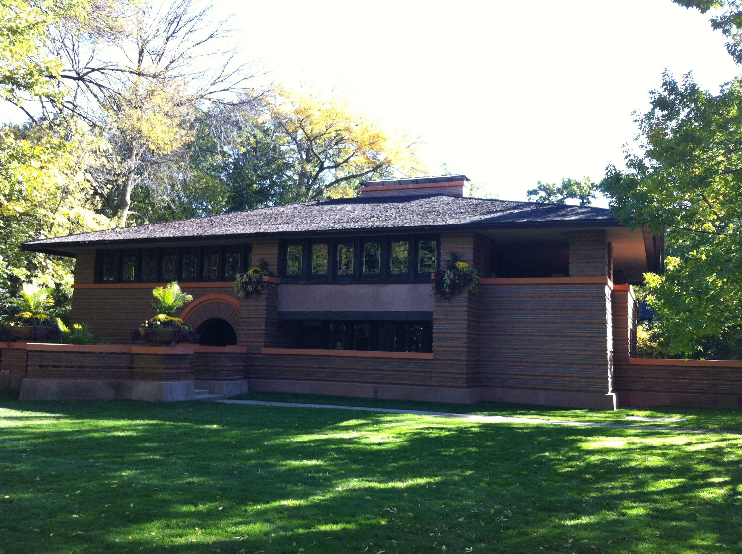 16 best prairie house frank lloyd wright home plans for Prairie home plans frank lloyd wright