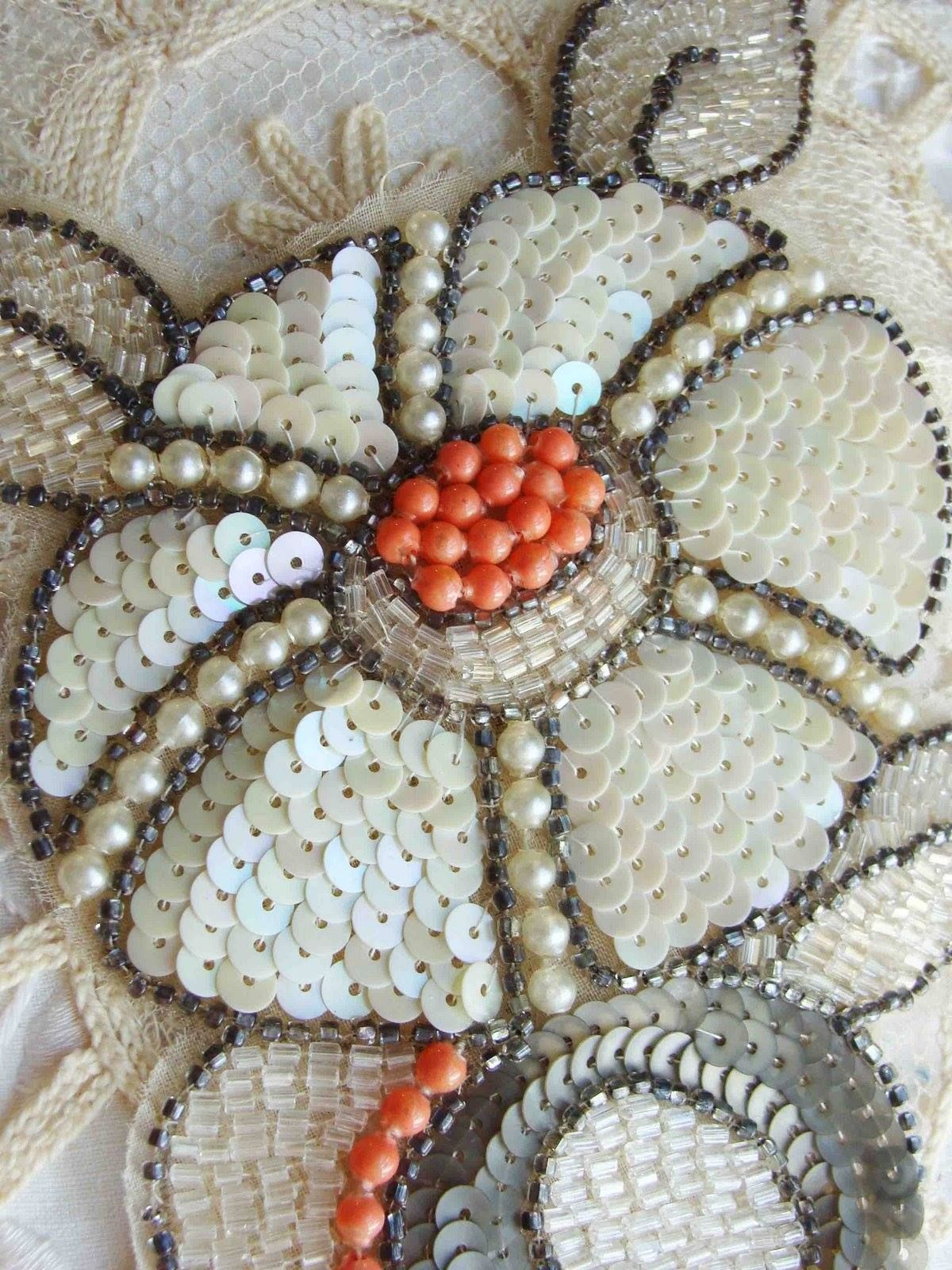 1920s Sequined Applique  Embroidery  Pinterest