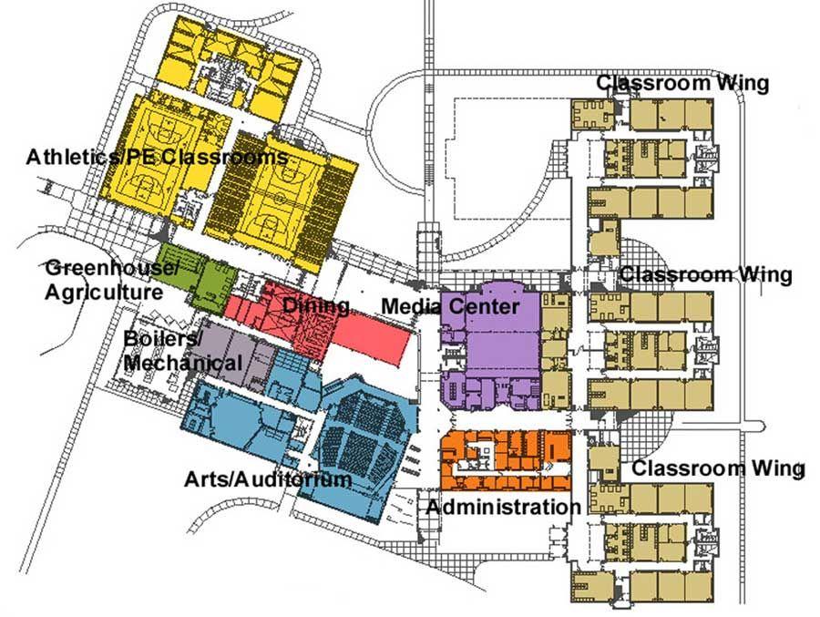 High School Floor Plans   Floor Plan   School design ...