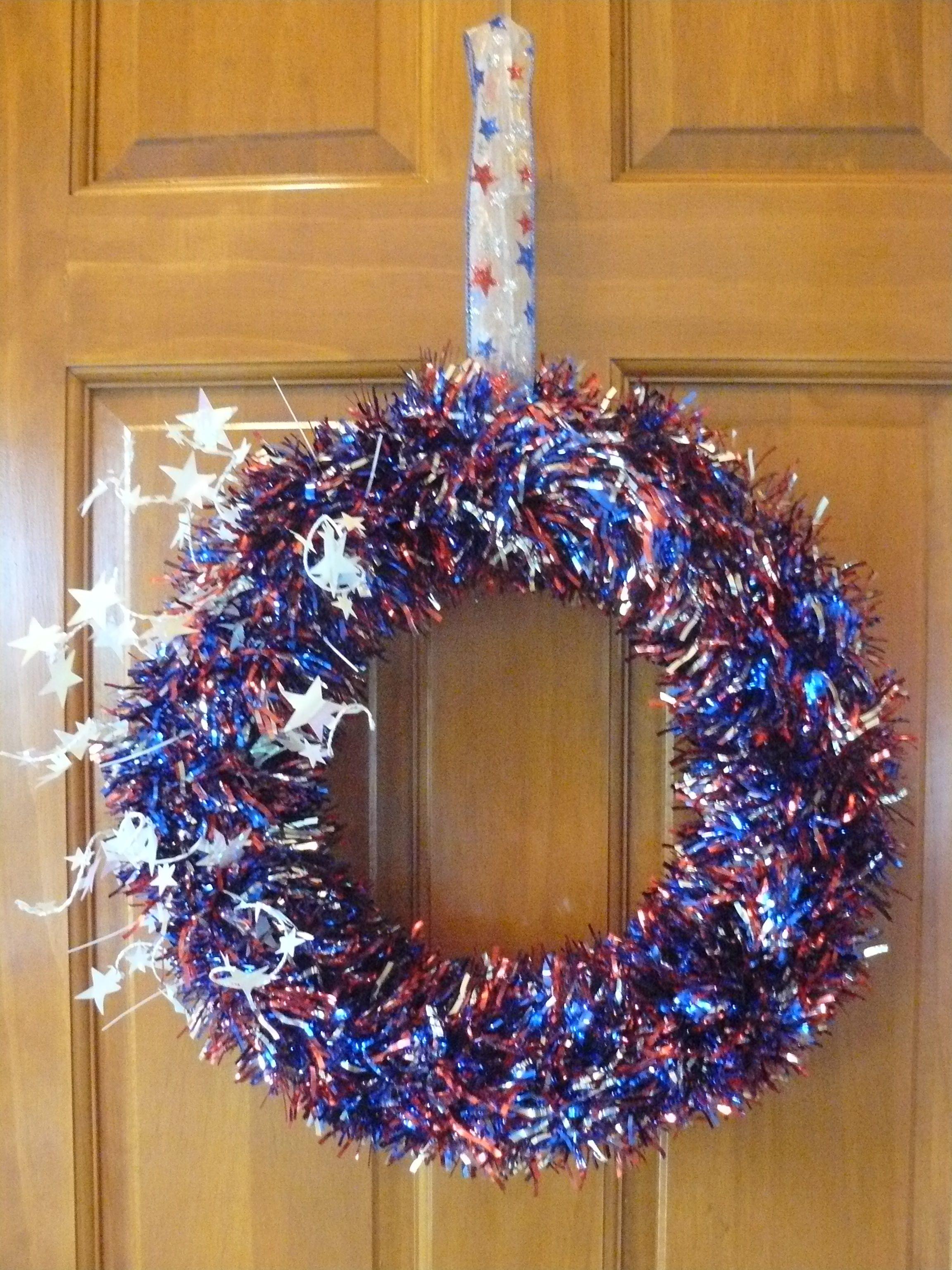 memorial day door wreath