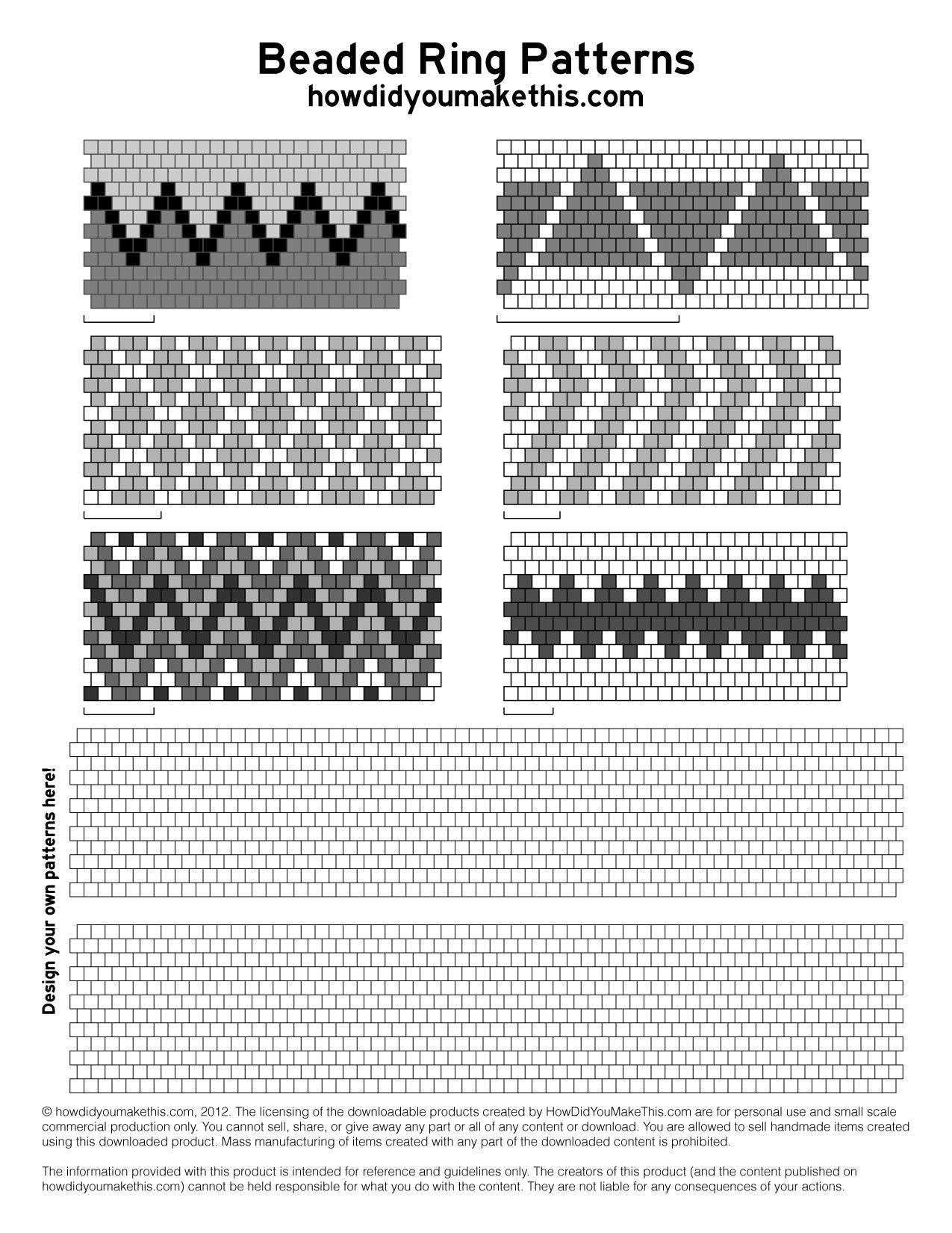 Beaded rings pattern native art amp crafts pinterest