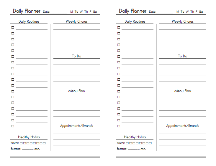 Free Printable Daily Calendar Pages Printable Editable Blank – Daily Calendar Printable