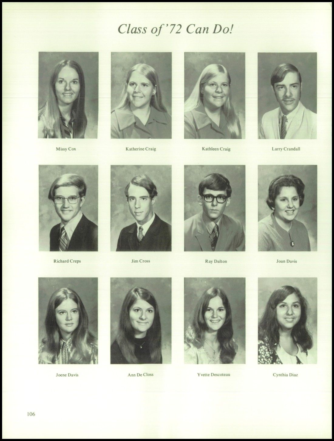 Find Donaldsonville high school yearbook pictures