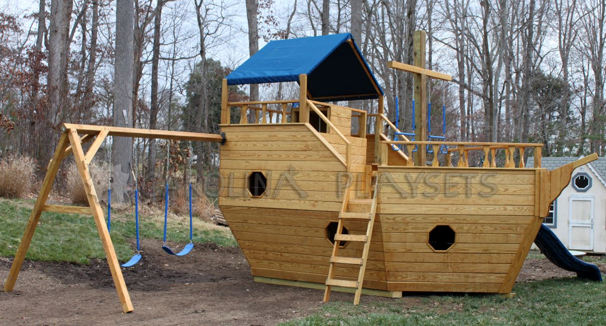 free pirate ship playhouse plans diy woodworking