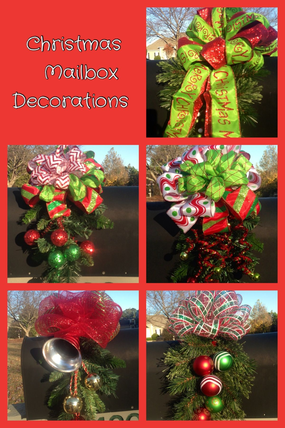 Christmas Decoration For Mailboxes : Christmas mailbox decorations i did this can make it