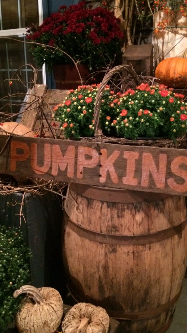 Love this season primitive ironing boards pinterest Fall outdoor decorating with pumpkins