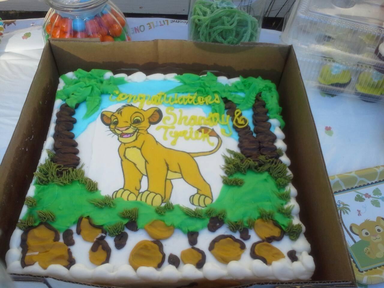 lion king baby shower cake kids pinterest