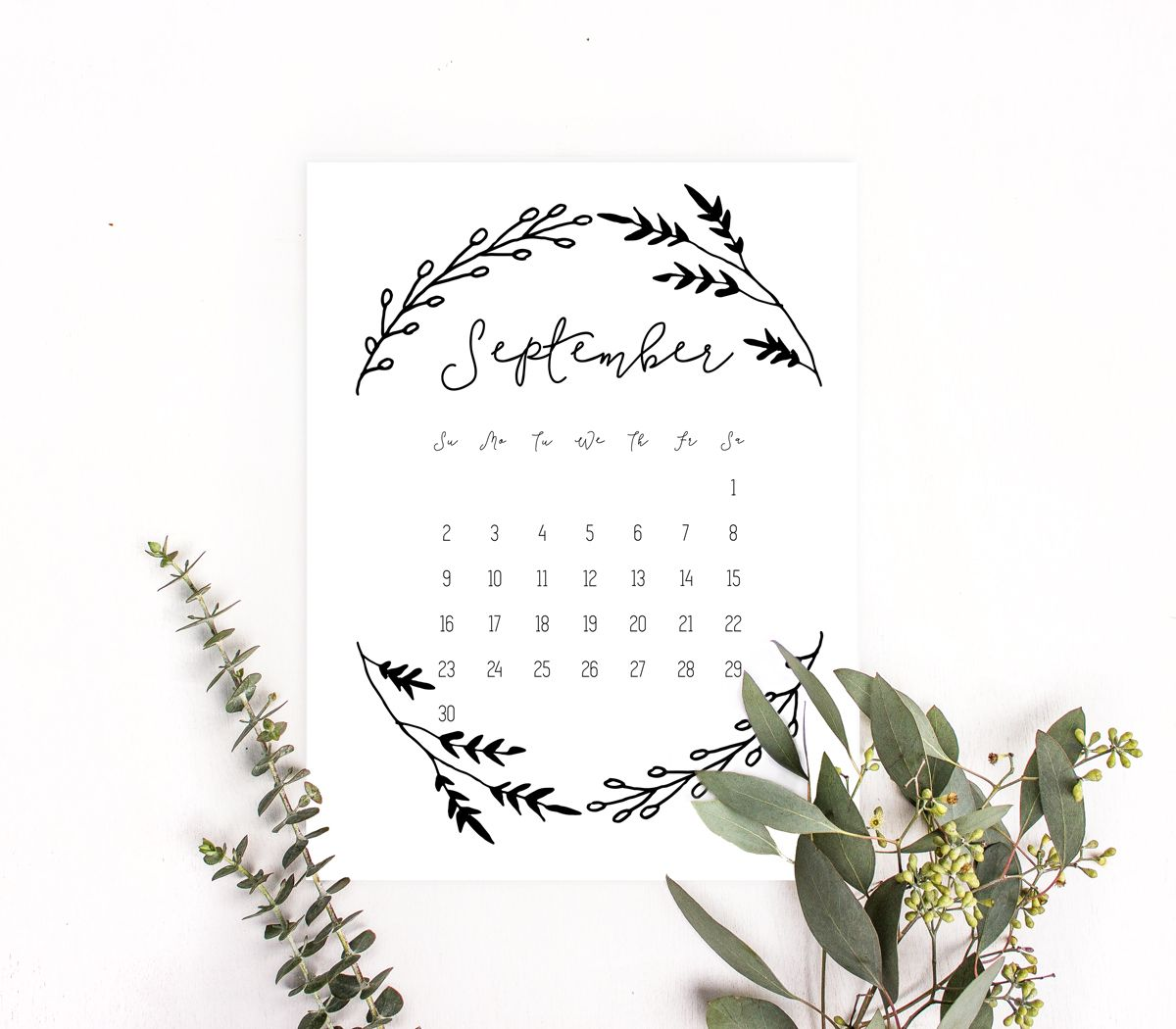 Printable monthly calendar pages (January 2018 - December 2018 ...