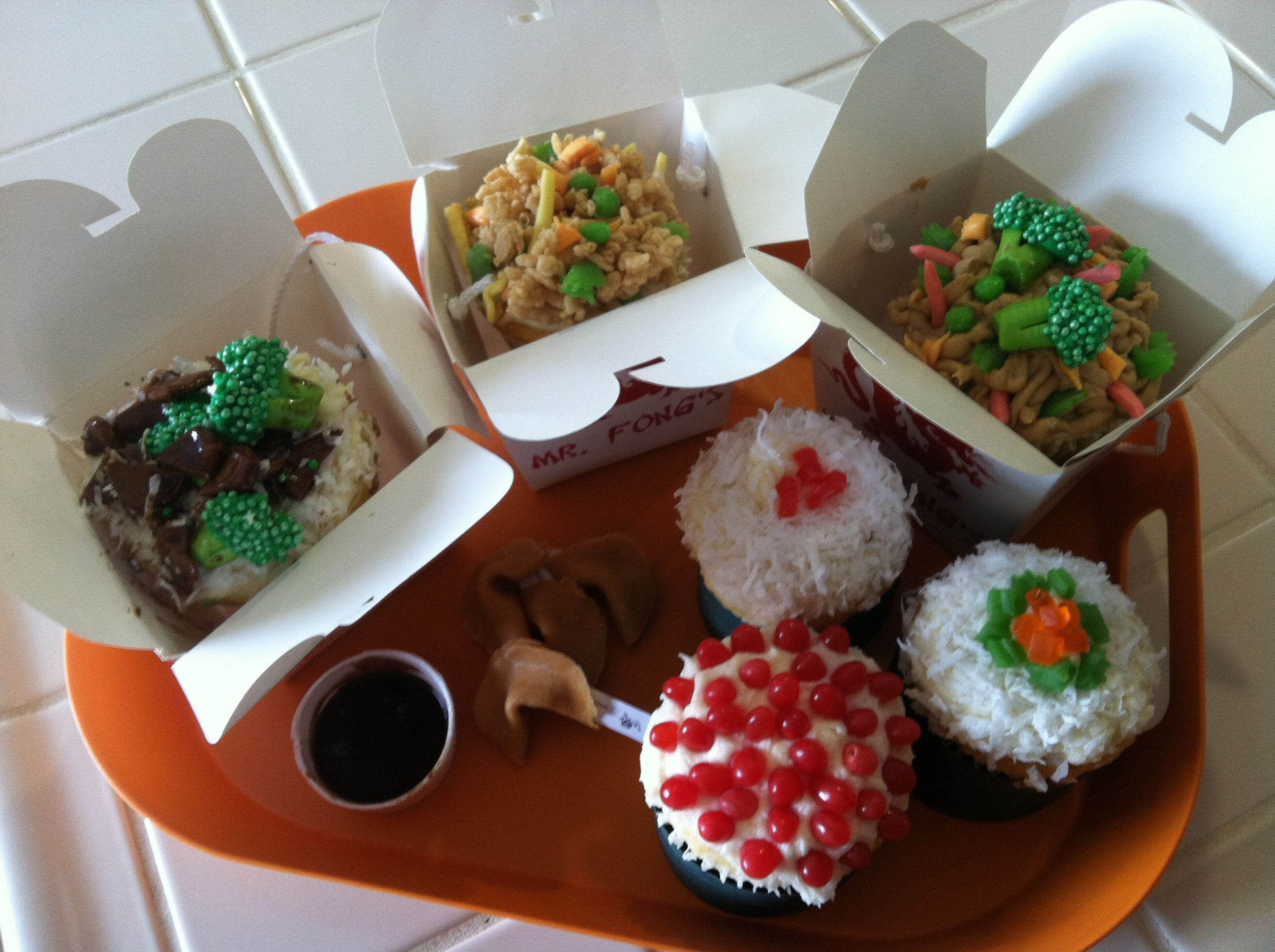 Chinese Takeout Cupcakes Recipe — Dishmaps
