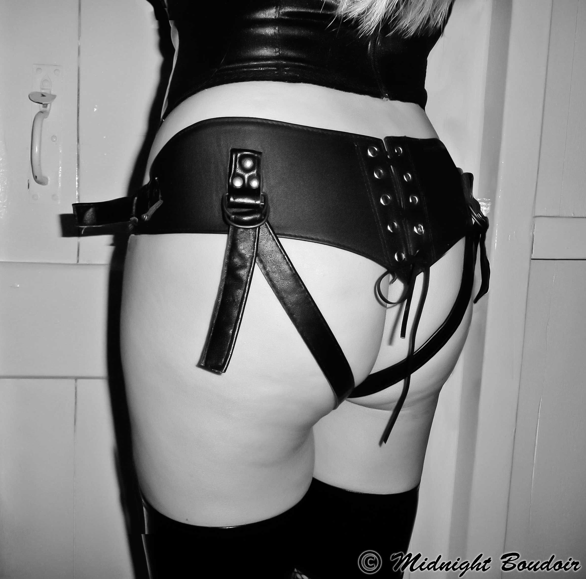 corset strap on harness