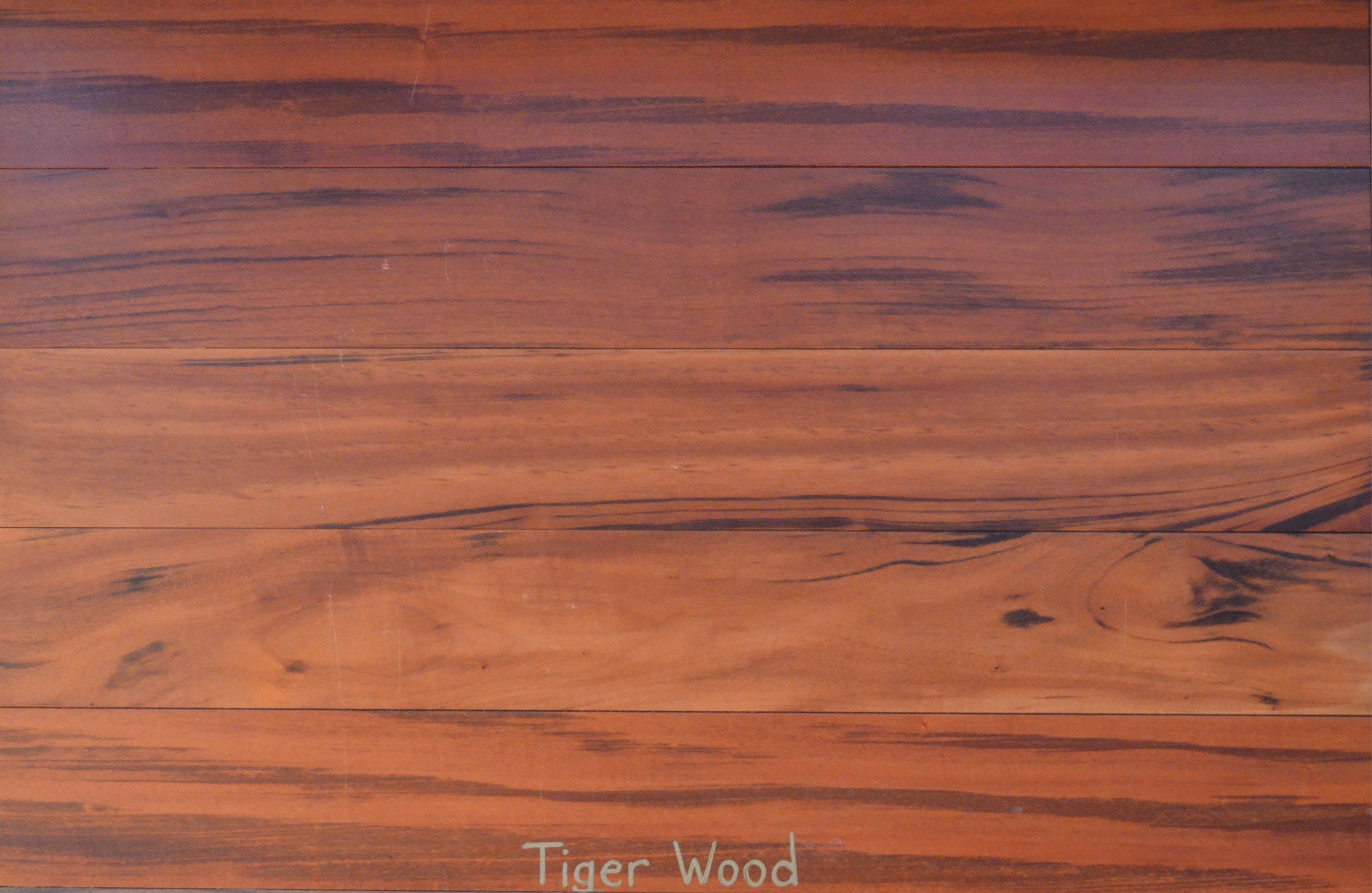 Tiger wood our exotic hardwood flooring pinterest for Exotic wood flooring