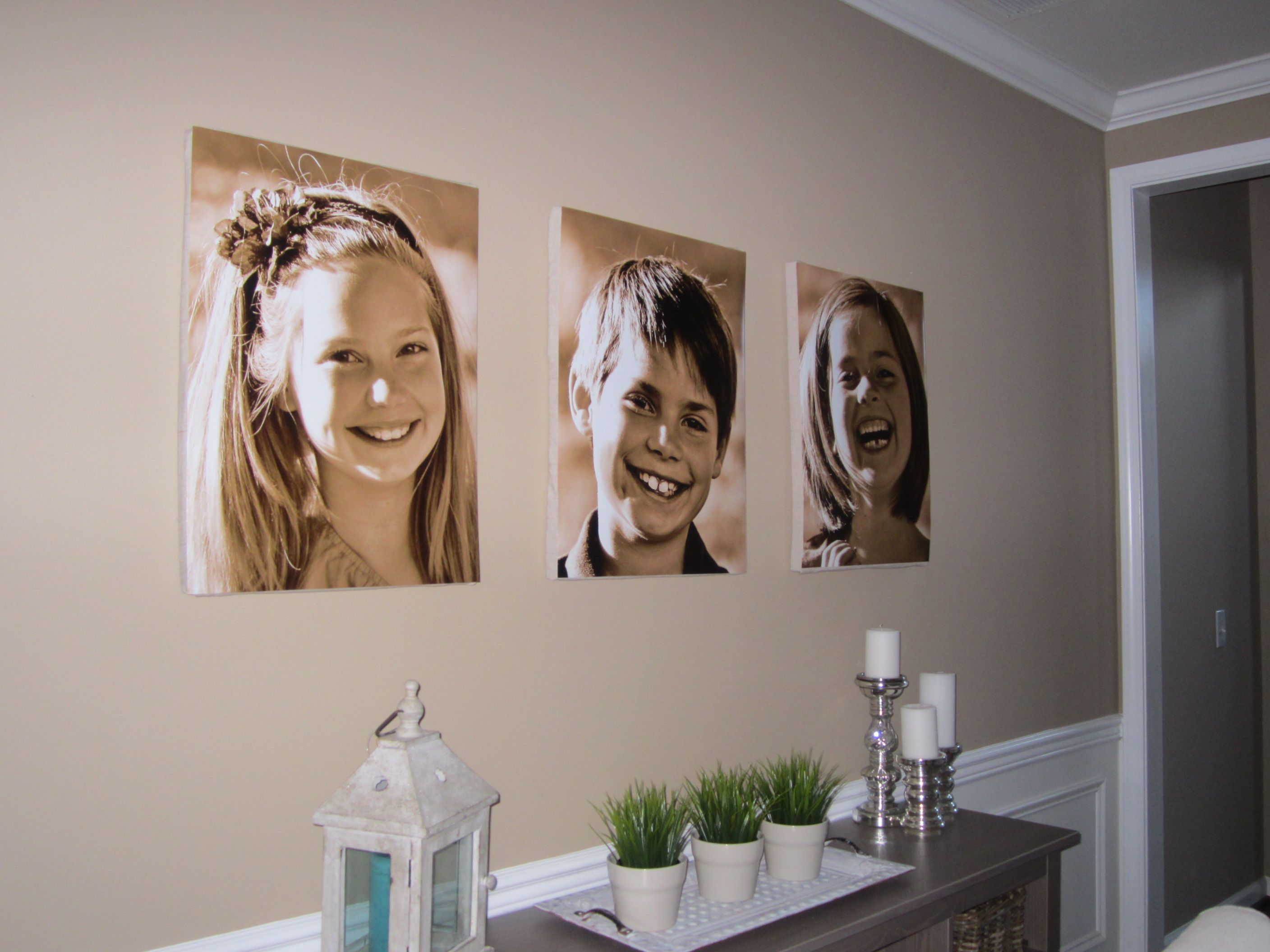 Print photos on poster board