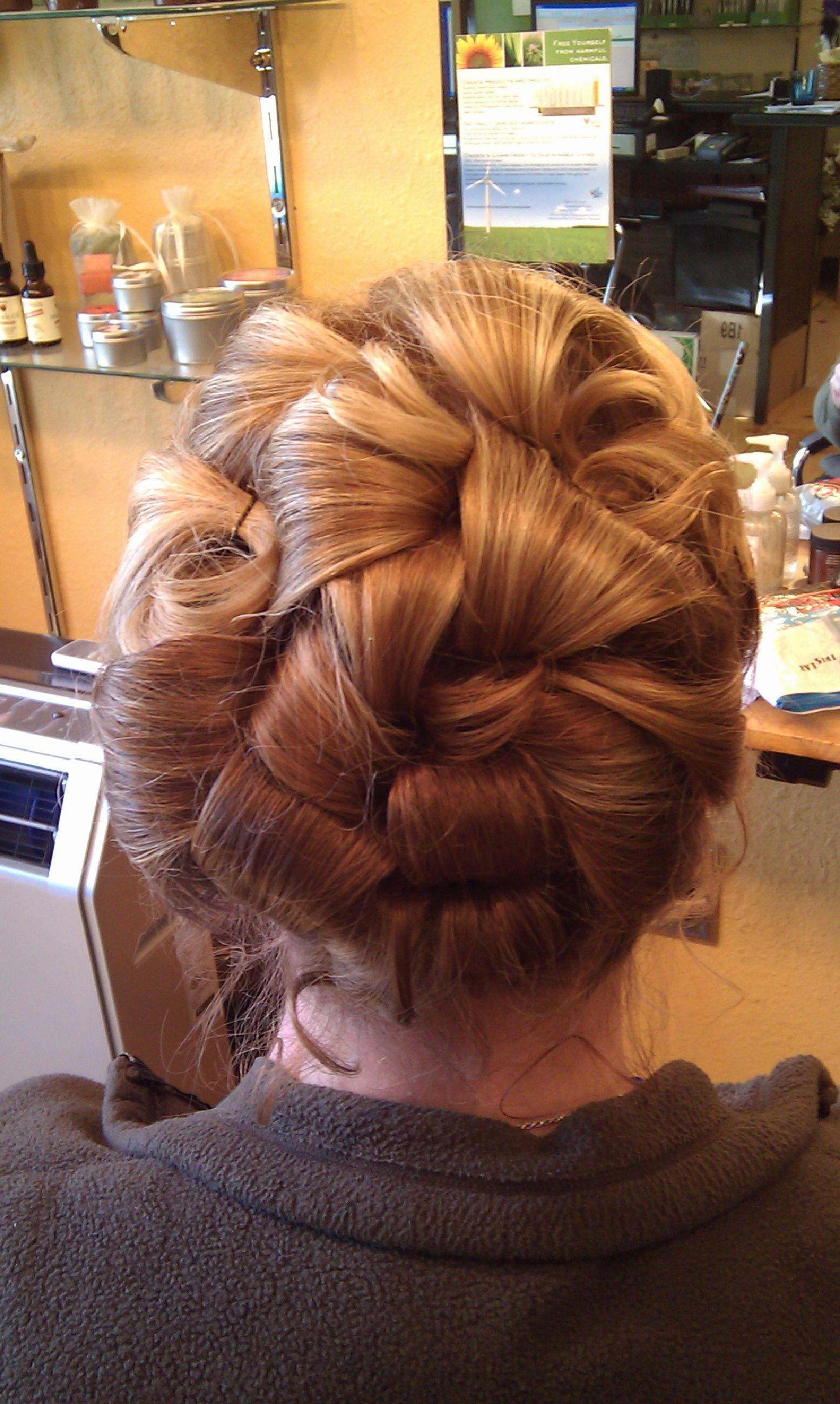 Barrel Curls Updo