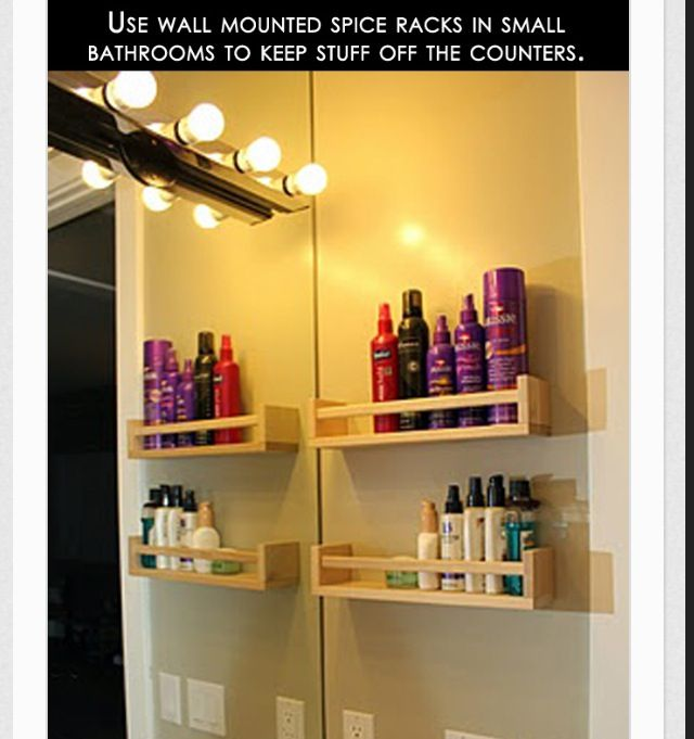 Small bathroom storage solutions condo livin 39 pinterest for I bathroom solutions