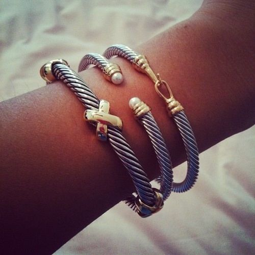 Stack david yurman jewels accessories pinterest for David yurman like bracelets