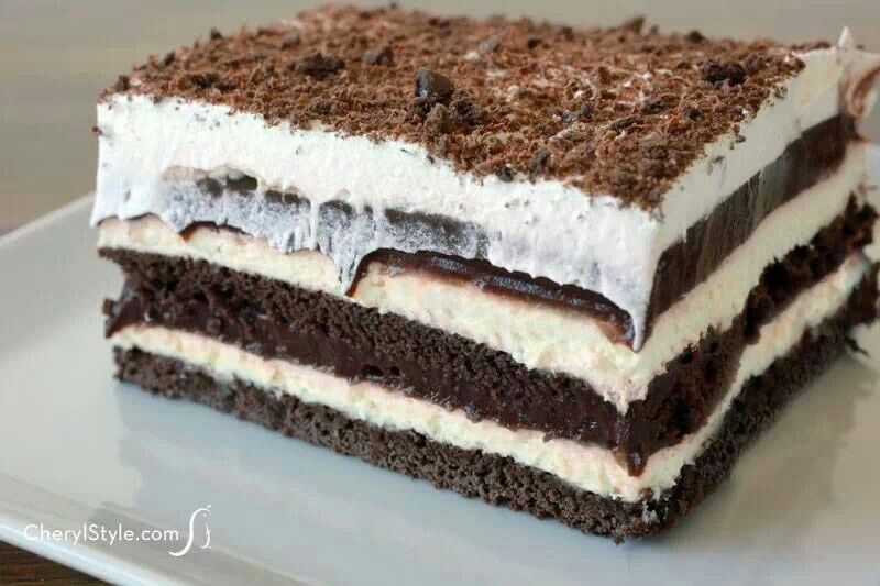 Chocolate lasagna | Sweet Treats | Pinterest